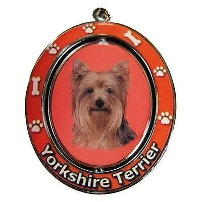 Yorkshire Terrier Yorkie Dog Spinning Key Chain Fob