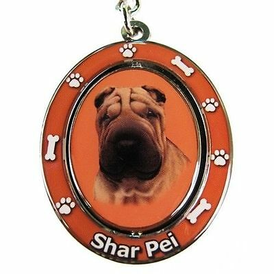 Shar Pei Dog Spinning Key Chain Fob