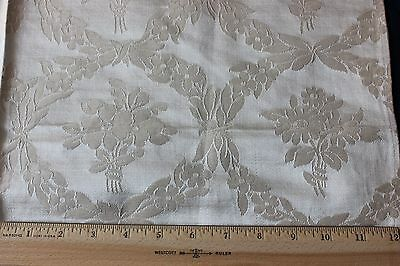 Beautiful French Antique c1870-1890 Lyon Silk Home Dec Fabric Panel~Frame Layout