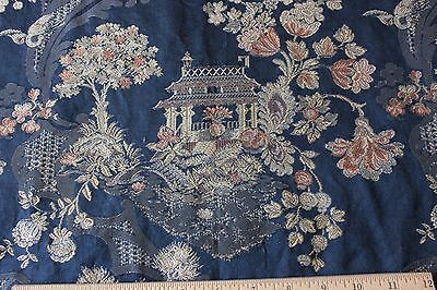 Stunning Antique 19thC French Chinoiserie Brocaded Silk Home Dec Panel c1840-60