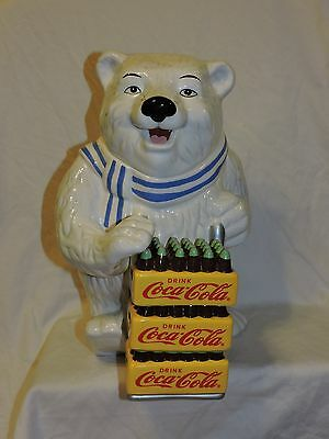Coke Coca Cola Delivery Polar Bear Cookie Jar - Displayed - Not Used