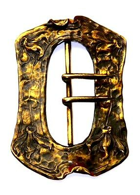 Vintage Art Nouveau  Bronze Columbine Buckle By Apollo Studios, New York