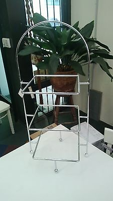 3 Tier Square Chromed Display Stand - Cake High Tea Seafood Etc
