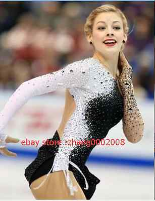 Ice skating dress.black Competition Figure Skating dress. Baton Twirling custom