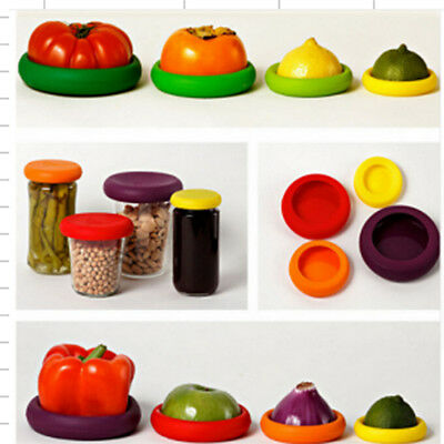 Creative Fruit Vegetables Food Huggers Safely Kitchen Silicone Food Embracers BY