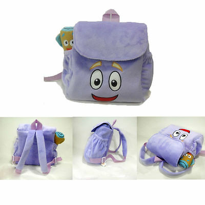 Girls Preschool Dora Backpack Plush with Map The Explorer Rescue Bag