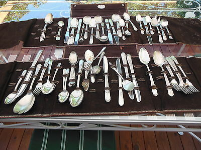 Vintage Mixed Lot Of Silverplate Flatware 66 Pieces