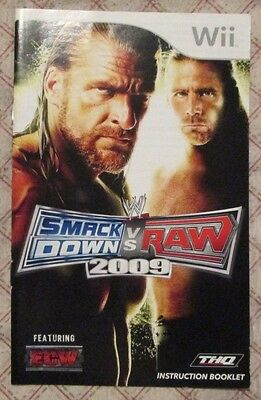 Nintendo Wii - WWE Smackdown vs RAW 2009 (Manual only)