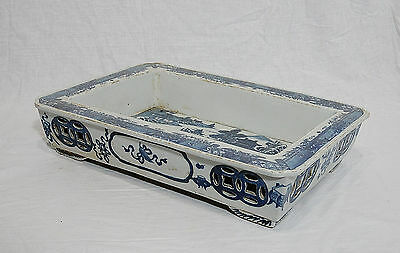 Chinese  Blue and White  Porcelain  Narcissus  Flower  Pot     M493