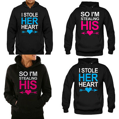 Unisex Womens Mens Lovers Couple Matching Hoodies Sweatshirts Jumper Tops Coat