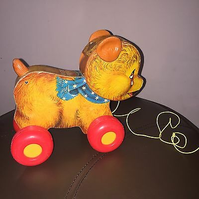 1966 Fisher-Price Cry Baby Bear Vintage Pull Toy