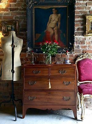 Stunning Antique Style Chest of Drawers Dresser Cross Banded Inlaid Mahogany