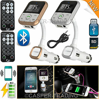 Wireless Bluetooth FM Transmitter SD USB Aux MP3 Player Phone Charger Car Kit