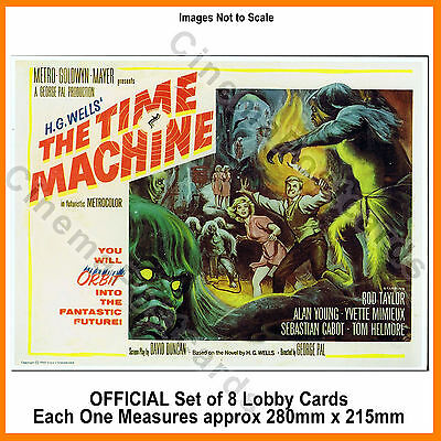HG Wells the Time Machine 1960 Rod Taylor OFFICIAL 8 Lobby Card Set (Morlocks!)