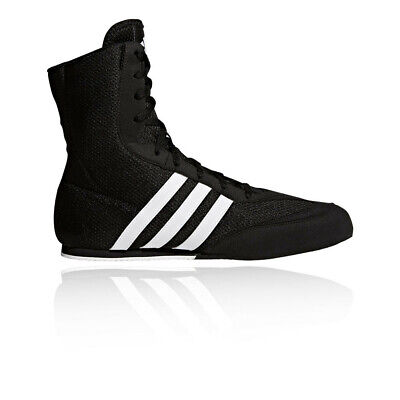 Adidas Box Hog Mens Black Boxing Sports Shoes Trainers Pumps