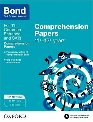 Bond 11+: English: Comprehension Papers: 11-12 Years New Paperback Book Michelle