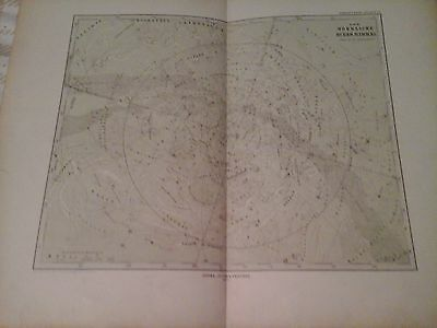 1877 Stieler's chart The Northern Heavens Der Nördliche Stern-Himmel map