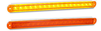 Trailer Recessed Rear Indicator Strip X 2  Lamp 380 S 12 V Amber Led Autolamps