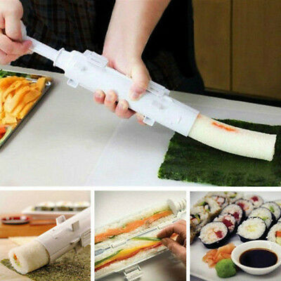 Perfect Sushi Roll Maker Kit Rice Roller Mold Mould Chef Kitchen DIY Set