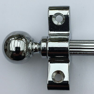 """Polished Chrome Reed Stair Rods 28.5"""" Set Of 13  Ball Finial (R03Reb)"""