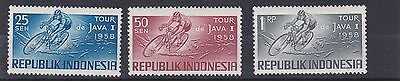 Indonesia  1958   Sport S G 790 - 792   Java Cycle Race  Mnh