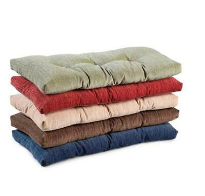"""Indoor DINING KITCHEN TUFTED NON SLIP BENCH CUSHION PAD 27""""x14"""" 5 Color Choices"""