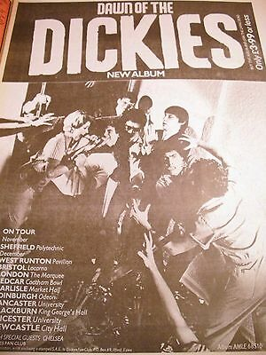 "The Dickies ""dawn Of The Dickies"" Album And Tour Advert 1979  A3"