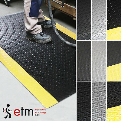 etm Commercial Anti-fatigue Floor Mat Runners Industrial Ergonomic Flooring Mats