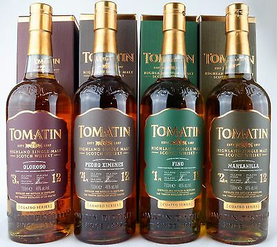Tomatin Cuatro Sherry Finish Serie 12y 2002/2014 - Single Malt Whisky 4x 0,7L