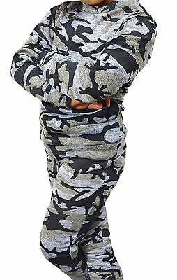 GIRLS&KIDS Army Camouflage Print Lounge 2 Piece Set Tracksuit Jogging Suit 5-13
