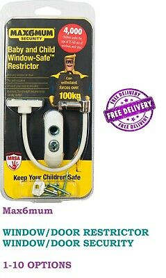 MAX6MUM Window and Door Restrictor - Child and baby Security Safety Lock