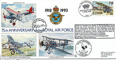 """1993 """"Royal Air Force"""" Fiji illustrated flown First Day Cover"""