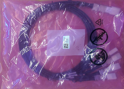 NEW Dell 40G QSFP+ to 4x10G SFP+ 2M Direct Attach Copper Breakout Splitter Cable