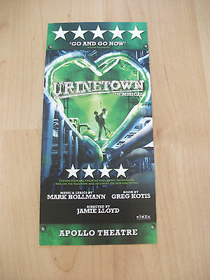 **Urinetown The Musical at Apollo Theatre London Flyer Great Condition**