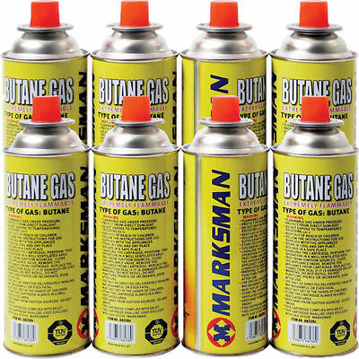 4 X Marksman Butane Gas Canisters Bottle for Camping Portable stoves and heaters