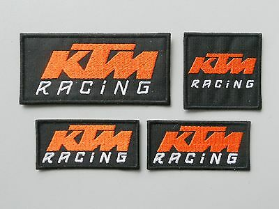 Patch Ktm Racing Nero Kit 4 Toppe Ricamate Termoadesive  -Cod.507
