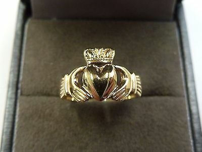 9ct Gold Childs Claddagh Ring Size I * Made in Ireland *