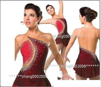 Ice skating dress. red and black Figure Skating dress. Baton Twirling custome.