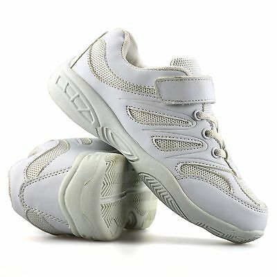 Boys Kids Childrens Casual Touch Strap School Sports Running Trainers Shoes Size