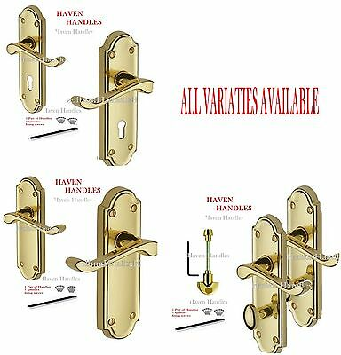 Polished Brass Door Ashford Handles MODERN HIGH QUALITY ashworth style