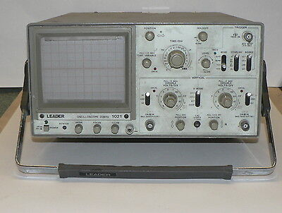 Leader 1021 20MHz Dual Channel Analogue Oscilloscope