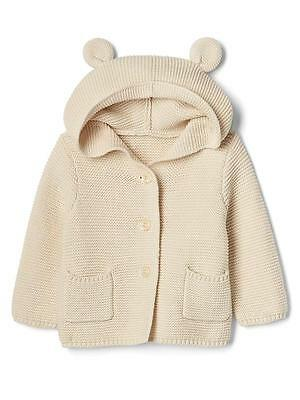 Unisex Baby Gap Bear Sweater Hoodie 0-3 Months New with Tags