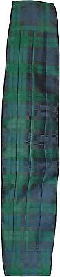 USED Mens Green & Navy Pattern Cummerbund (M.SH)