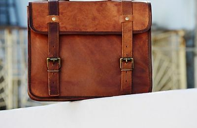 1 Side Pouch Motorcycle Side Brown Leather  Pouch Saddlebags Saddle Bag Panniers