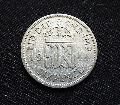 1944 Sixpence coin,George VI