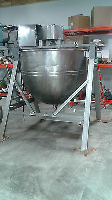 300 gallon Lee Hemispherical jacketed kettle with agitation