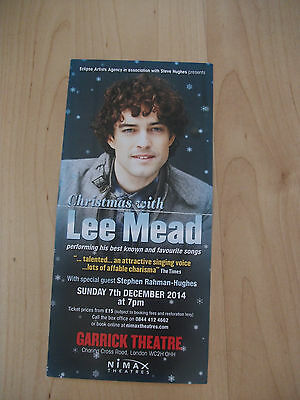 **Christmas with Lee Mead Flyer at Garrick Theatre London Great Condition**