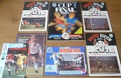 7x Manchester United FA Cup Match Programmes, 1984/85 (Complete Run).