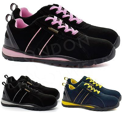 New Womens Lightweight Safety Shoes Ladies Steel Toe Cap Work Boots Trainers UK