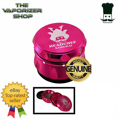 Pink Head Chef Samurai Top Quality Alluminium Magnetic Grinder 55mm 4 Piece